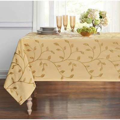 Kate Aurora Living Madison Floral Embroidered Fabric Tablecloth