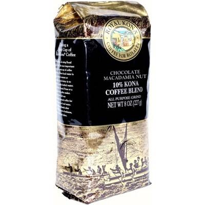Royal Kona Chocolate Macadamia Nut Light Roast Ground Coffee - 8oz