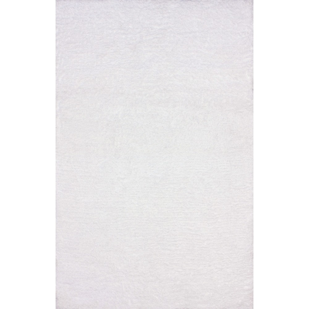 nuLOOM Hand Tufted Maginifique Shag Area Rug - White (4' x 6'), Snow