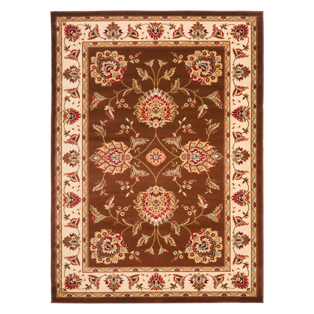 33X53 Floral Loomed Accent Rug Brown/Ivory - Safavieh Top