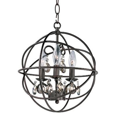 "14"" Orbit 3-Light Pendant Oil Rubbed Bronze - Maxim"