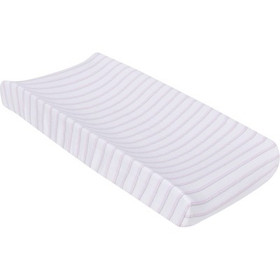 MiracleWare Muslin Changing Pad Cover Pink Stripe