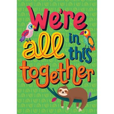 One World We're All in This Together Poster - Carson Dellosa
