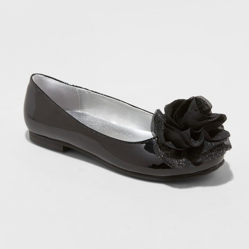 560989e87e5 Girls  Flowers By Nina Tressie Heeled Ankle Strap Sandals - Black 13    Target