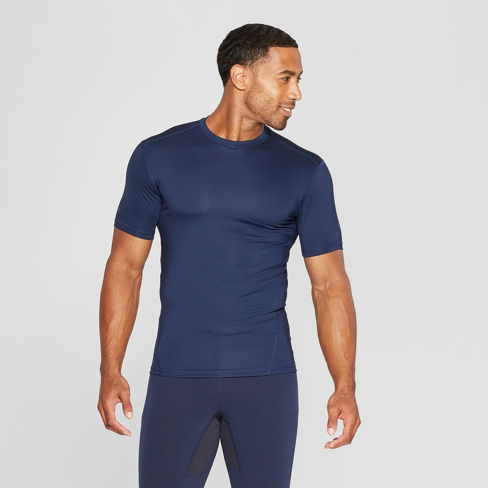 Men's Fitted Short Sleeve Compression T-Shirt - C9 Champion Dark Night Blue L