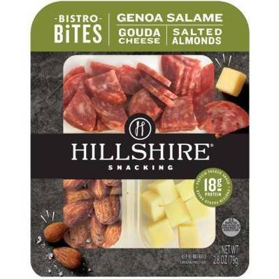 Hillshire Farm Snacking Bistro Bites with Genoa Salami, Gouda & Salted Almonds - 2.8oz
