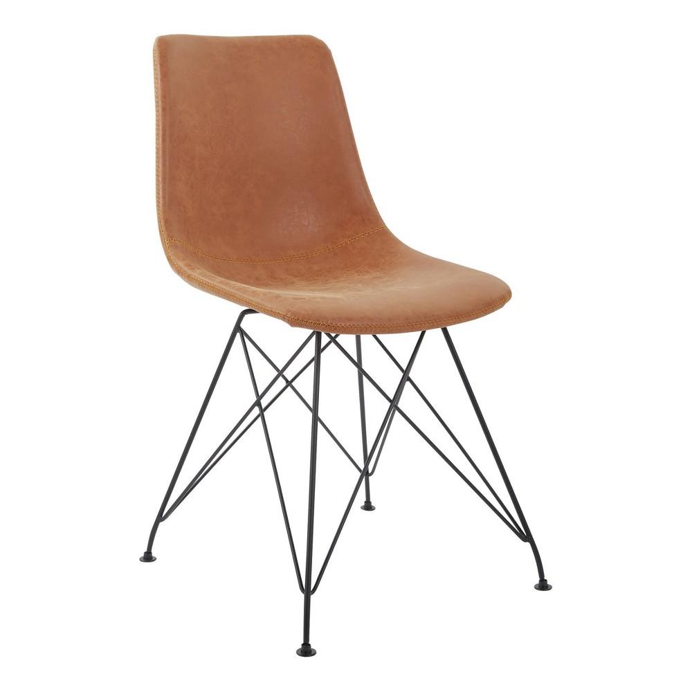 2pc Ave Six Trenton Chair Sand (Brown) - Osp Home Furnishings