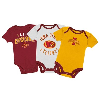 NCAA Iowa State Cyclones Baby Boys' 3pk Bodysuit Set
