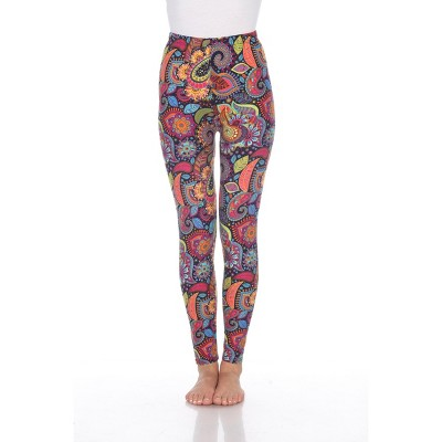 Women's One Size Fits Most Printed Leggings - One Size Fits Most - White Mark