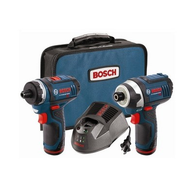 Bosch CLPK27-120-RT 12V Max Cordless Lithium-Ion Drill Driver and Impact Driver Combo Kit