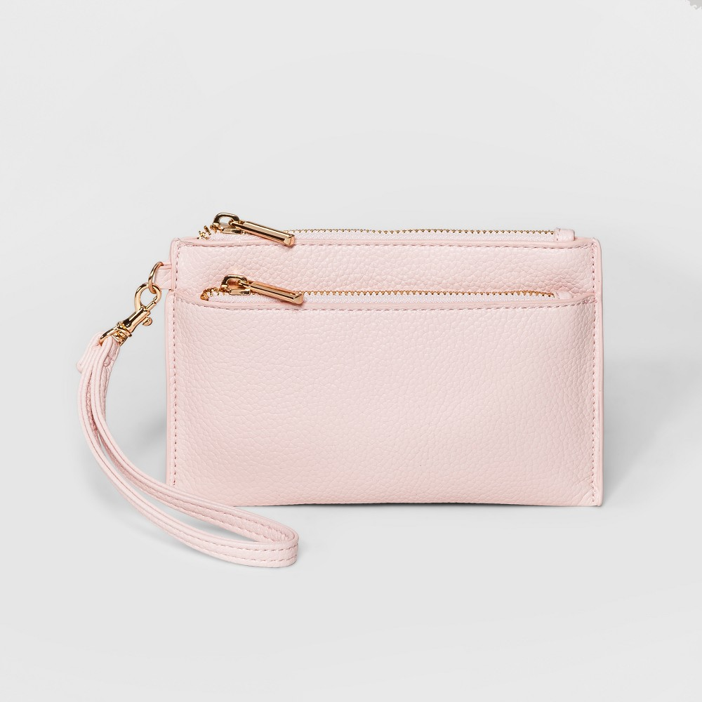 Double Zip Pouch Clutch - A New Day Nouveau Pink, Women's, Size: Small