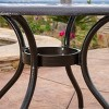 Phoenix Round Cast Aluminum Table - Hammered Bronze - Christopher Knight Home - image 4 of 4