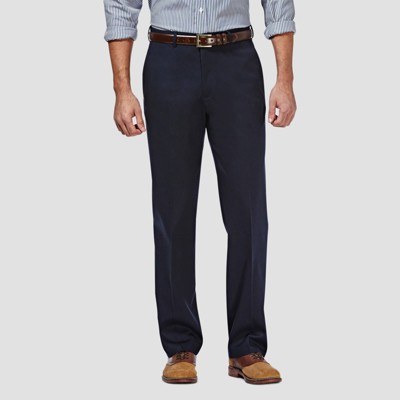Haggar Men's Premium No Iron Classic Fit Flat Front Casual Pants