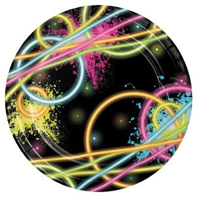 "Glow Party 7"" Dessert Plates - 8ct"