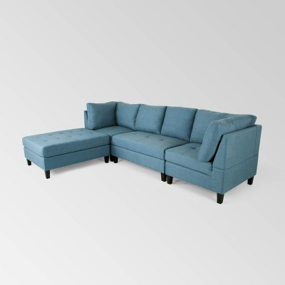 4pc Beckett Contemporary Sectional and Ottoman Set - Christopher Knight Home