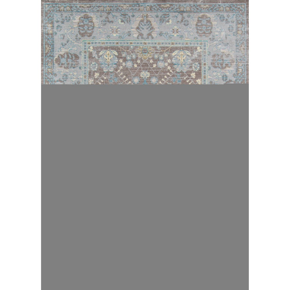 Dark Gray Shapes Loomed Accent Rug 2'3