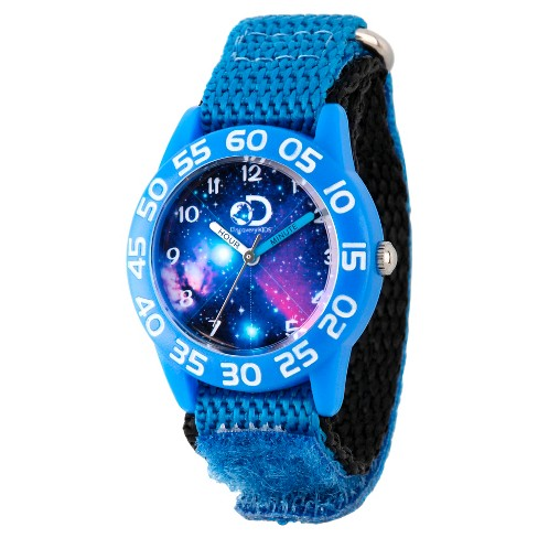 Boys' Discovery Channel  Plastic Time Teacher Watch - Blue - image 1 of 2