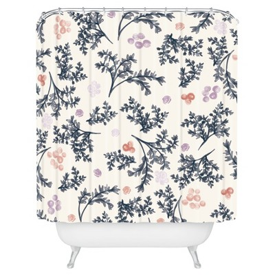 Khristian A Howell JARDIN Floral Shower Curtain Lilac - Deny Designs