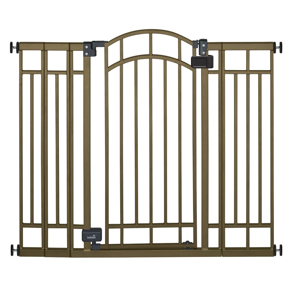 Image of Summer Infant Multi-Use Decorative Extra-Tall Walk-Thru Gate - Bronze Metal
