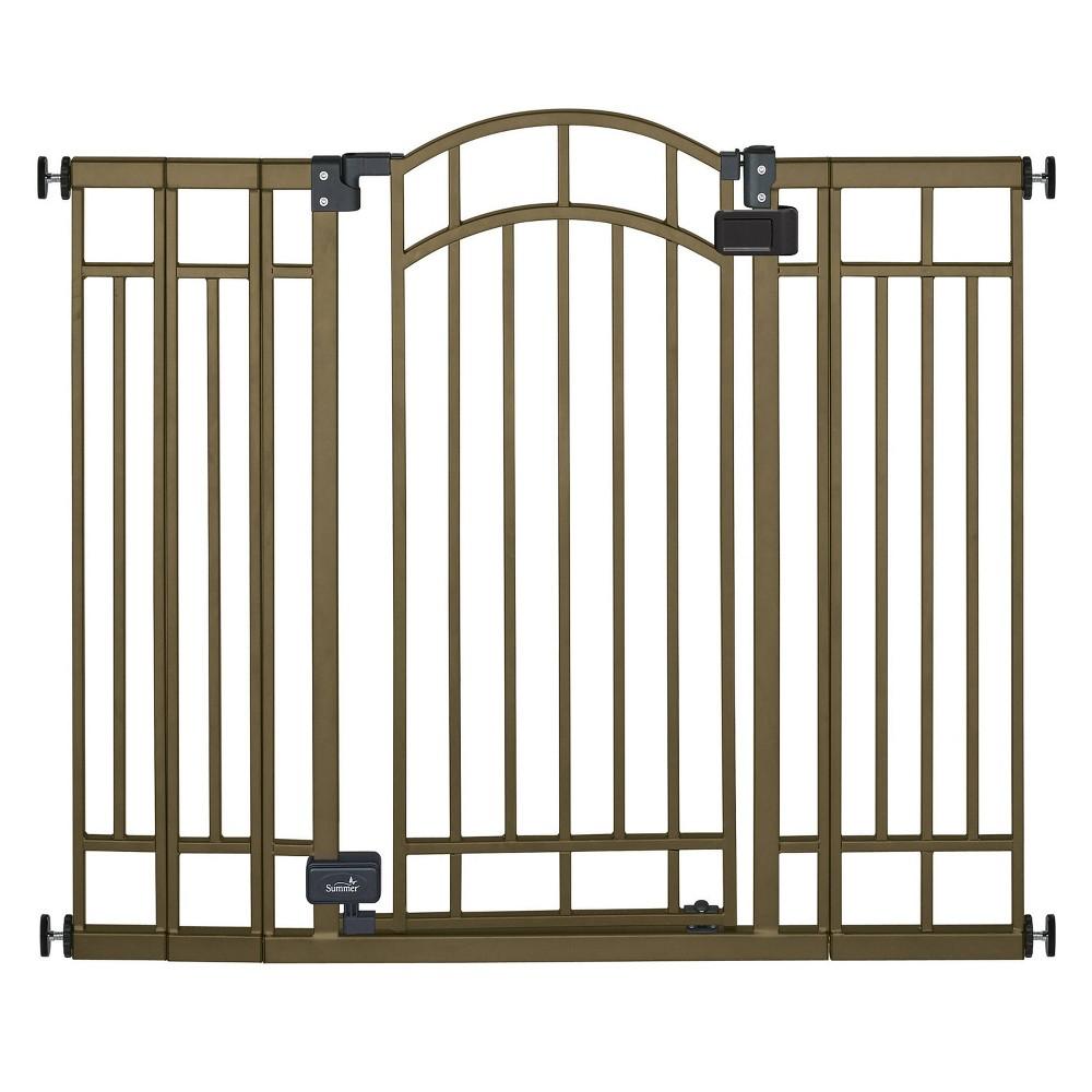 Image of Summer Infant Multi-Use Decorative Extra-Tall Walk-Thru Gate - Bronze Metal