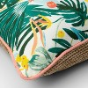Opal Tropical Natural Woven Outdoor Throw Pillow Green/White - Opalhouse™ - image 3 of 4