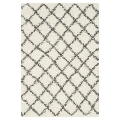 Ivory/Dark Gray Geometric Loomed Area Rug - (4'X6')- Safavieh®