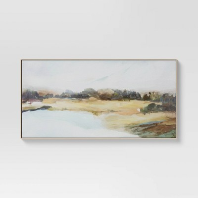 """47"""" x 24"""" Lakeview Framed Canvas - Threshold™"""