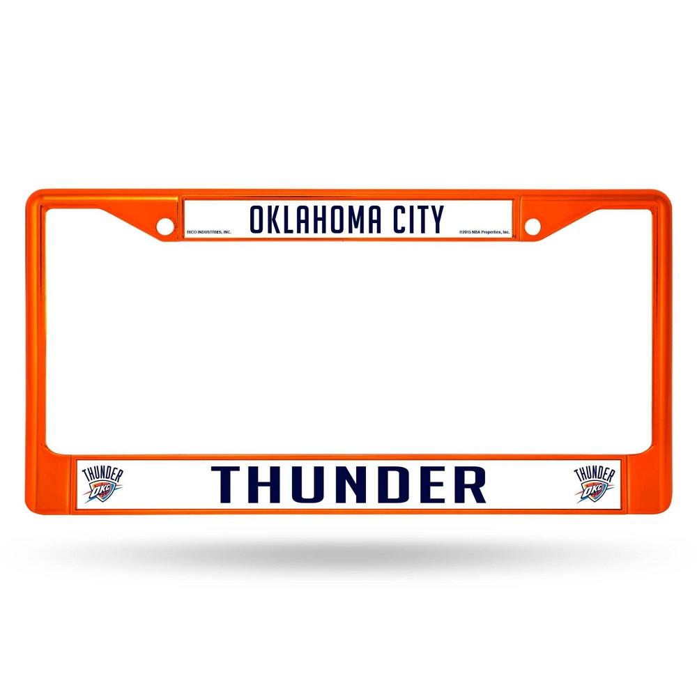 Nba Oklahoma City Thunder Colored Chrome License Plate Frame