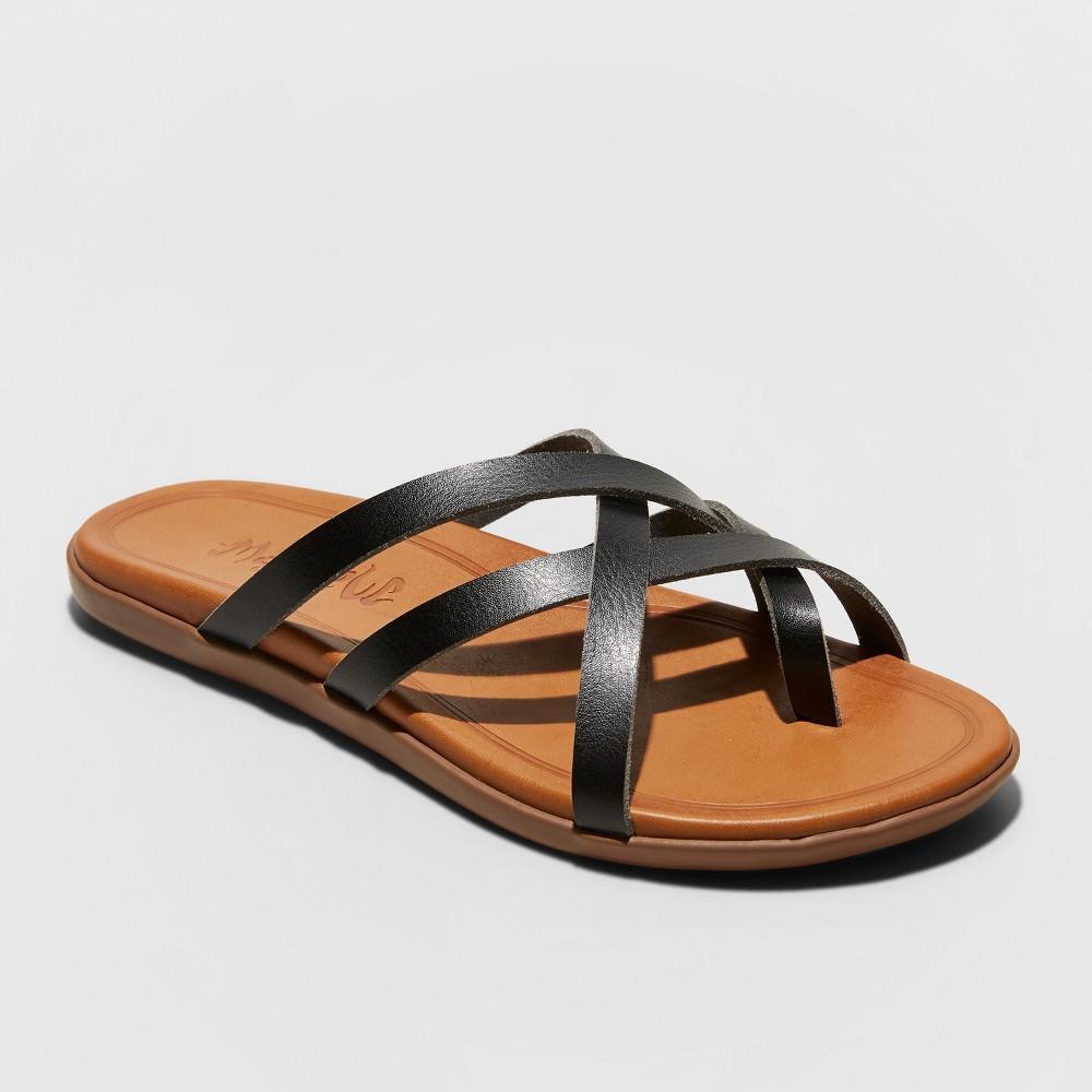 Women's Mad Love Adama Multi Strap Thong Sandals - Black 7