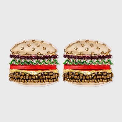 SUGARFIX by BaubleBar Hamburger Stud Earrings