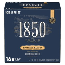 1850 Pioneer Blend Medium Roast Coffee - Keurig K-Cups Pods - 16ct