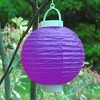 3ct Purple Battery Operated Paper Lantern - image 3 of 3