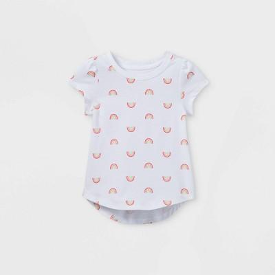 Toddler Girls' Rainbow Short Sleeve T-Shirt - Cat & Jack™ White