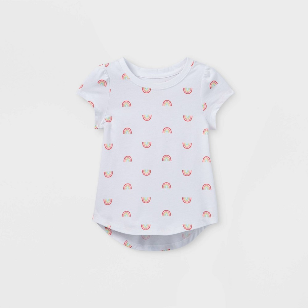 Toddler Girls 39 Rainbow Short Sleeve T Shirt Cat 38 Jack 8482 White 2t