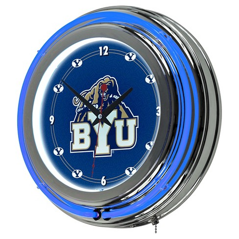 BYU Cougars Neon Clock - 14 inch Diameter - image 1 of 1