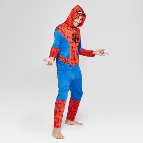 Men S Spider Man Novelty Union Suit Red Target