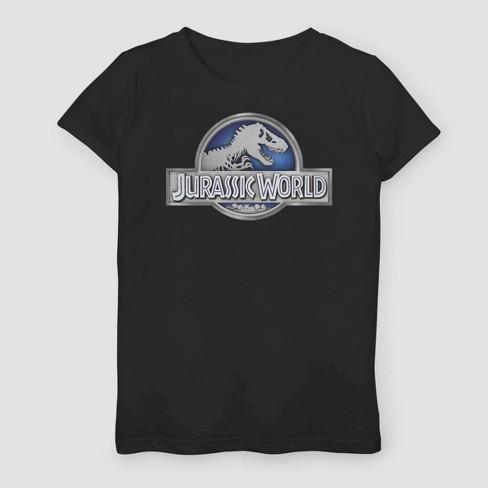 Girls' Jurassic World Fallen Kingdom Logo T-Shirt - Black - image 1 of 2