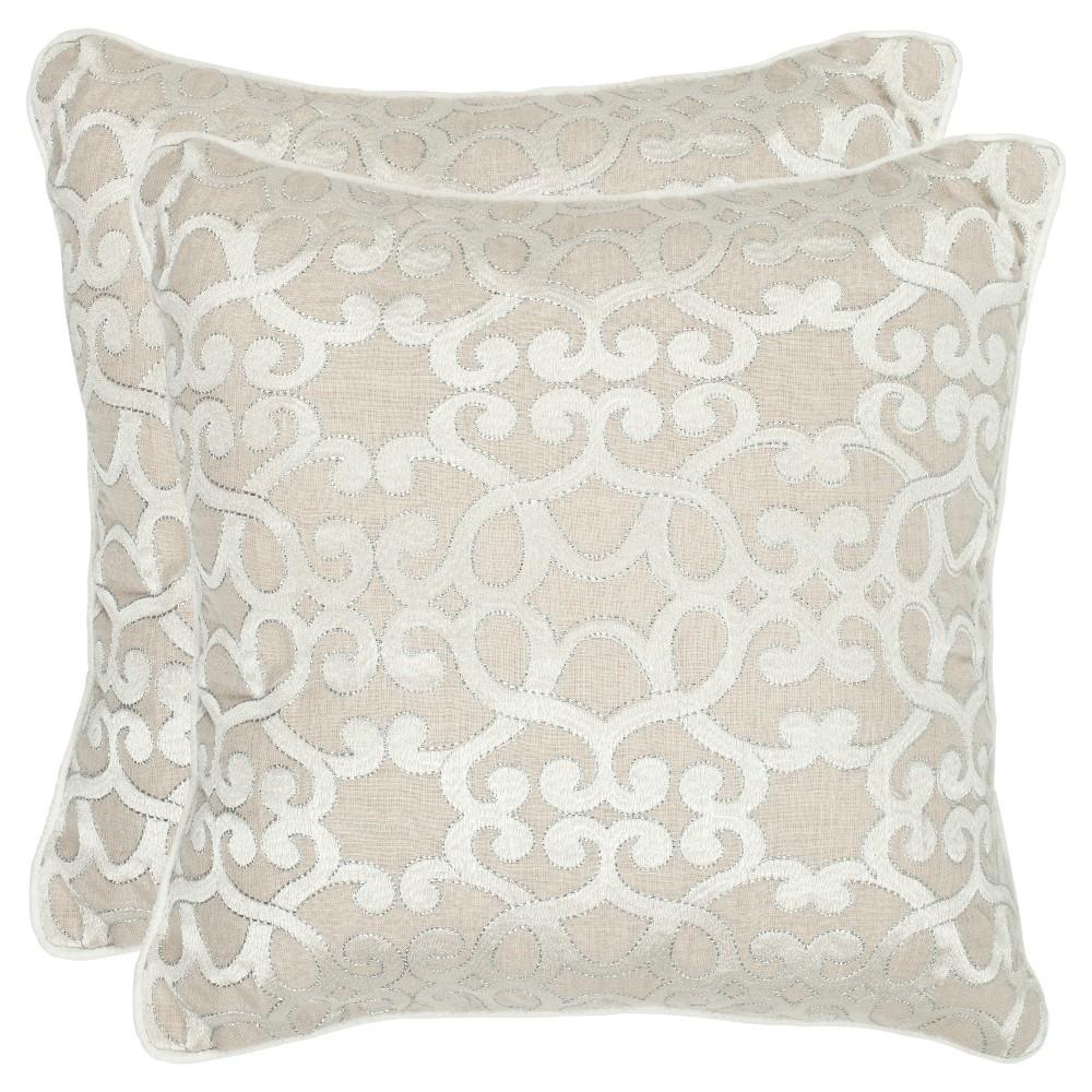 Silver Set Throw Pillow - Safavieh