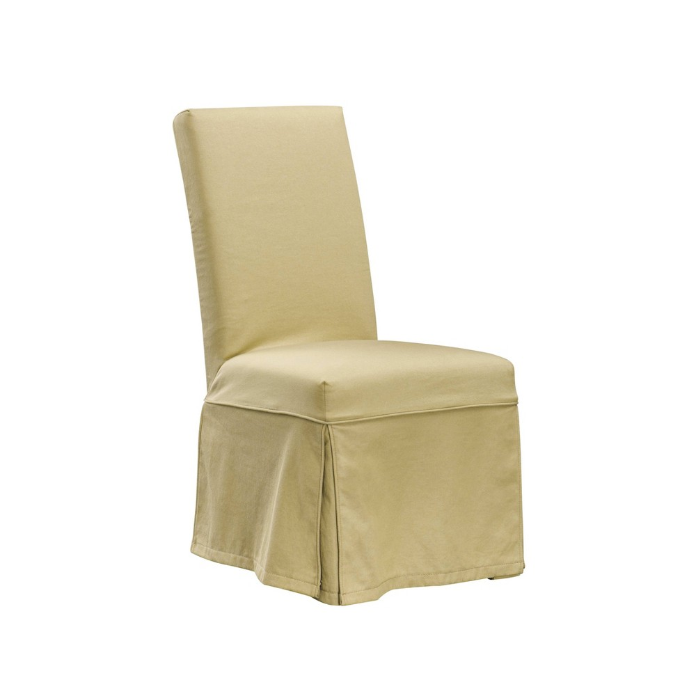 Set of 2 Slipcovered Dining Chair Taupe - HomePop was $259.99 now $194.99 (25.0% off)