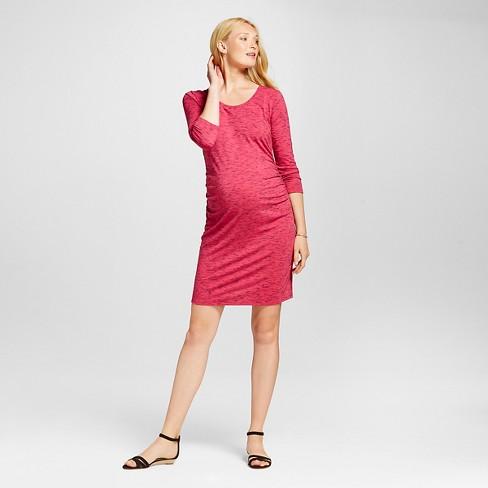 273f6b5e6be2c Maternity Spacedye 3/4 Sleeve T-Shirt Dress Rose Scenario/Federal Blue - S  - Liz Lange® for Target