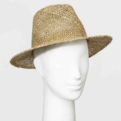 Women's Seagrass Fedora Hat - Universal Thread™ Natural