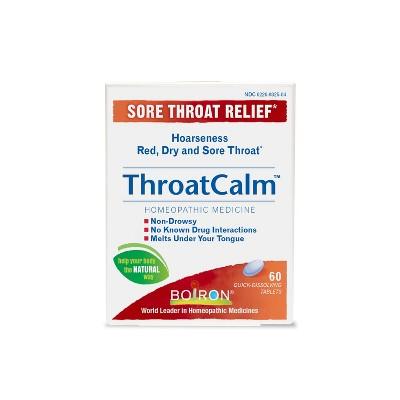 Boiron Throat Calm Dissolving Tablets - 60ct