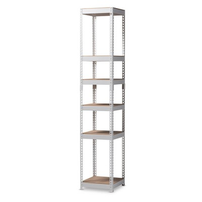 Gavin Metal 5 Shelf Closet Storage Racking Organizer - Baxton Studio