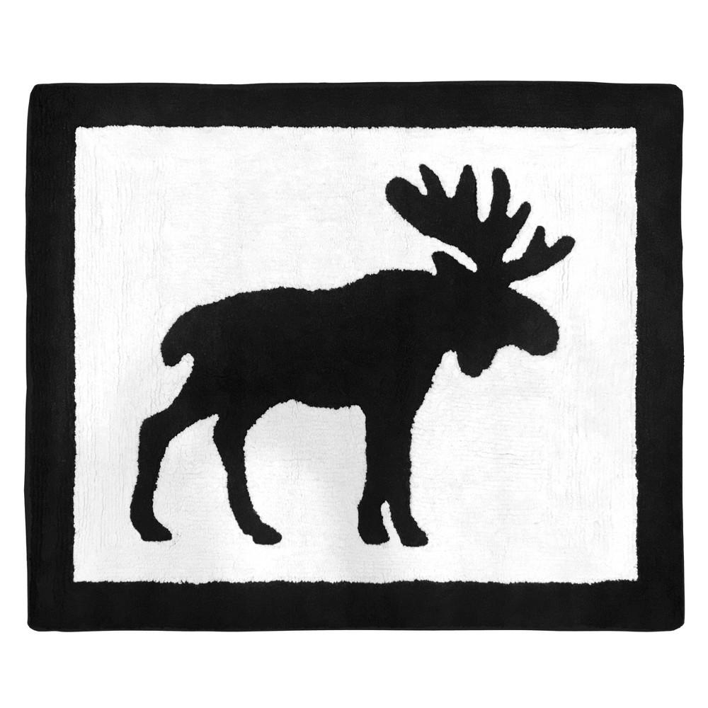 Image of 2'x3' Woodland Moose Rug Black/White - Sweet Jojo Designs
