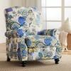 Elm Lane Ethel Indigo Floral Push Back Recliner Chair - image 2 of 4
