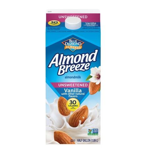 Blue Diamond Almond Breeze Unsweetened Vanilla Almond Milk - 0.5gal - image 1 of 2