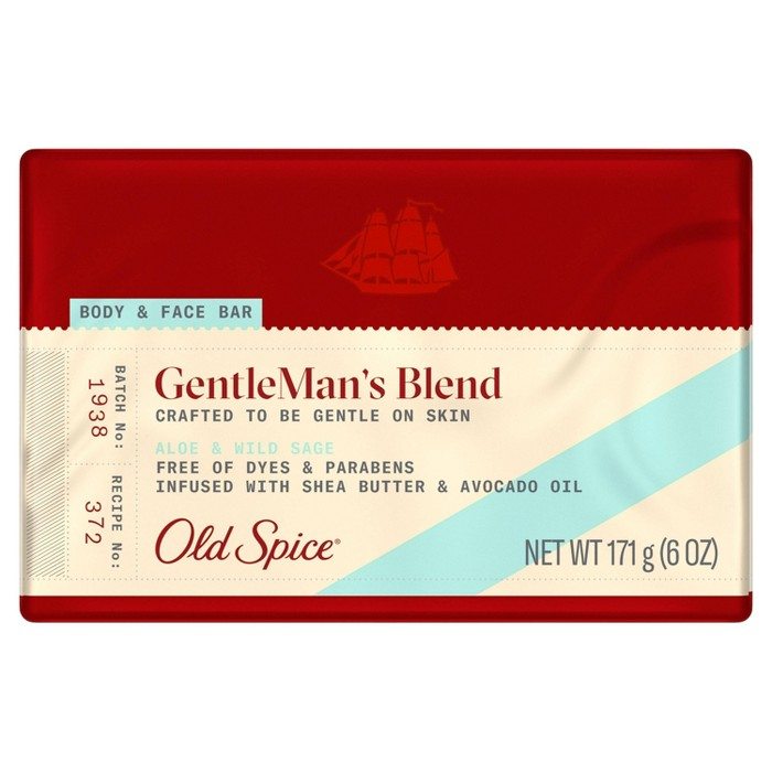 Old Spice GentleMan's Blend Aloe & Wild Sage Body & Face Bar Soap - 6oz : Target