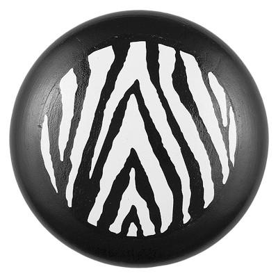 Sumner Street Home Hardware 4pc Zebra Print Painted Knob Black