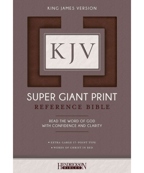 Holy Bible : King James Version, Brown, Super Giant Print (Paperback) - image 1 of 1