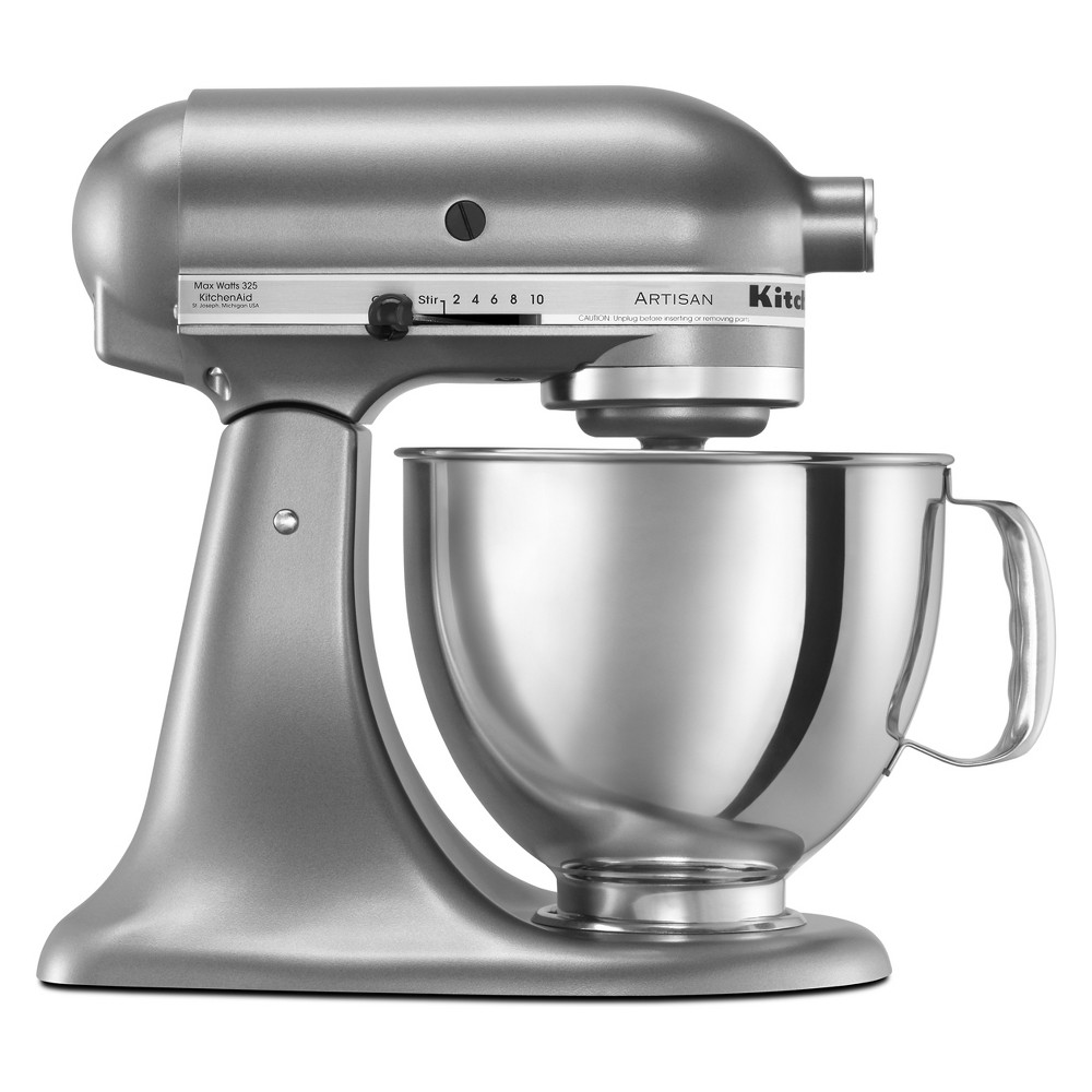 KitchenAid Refurbished Artisan Series Stand Mixer – Silver RRK150CU, Medium Silver 53499024